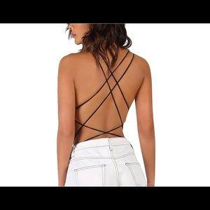 Tops - Backless bodysuit
